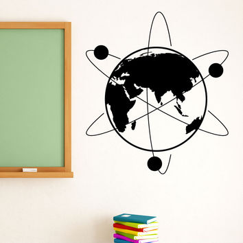 Vinyl Wall Decal Sticker Atom Earth #1213