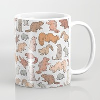 Funny Rodents Pattern Mug by Marie Gardeski