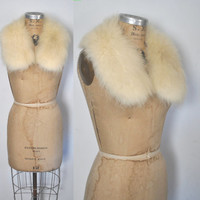 Fox Fur Collar / CREAM / bridal wedding