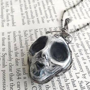 Doll Parts - Skeleton Necklace - Horror Art - Scary Doll - Halloween Jewelry - Steampunk Jewelry - Creepy Jewelry - Wire Jewelry - Weird