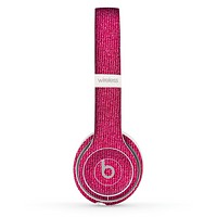 The Pink Fabric Skin Set for the Beats by Dre Solo 2 Wireless Headphones