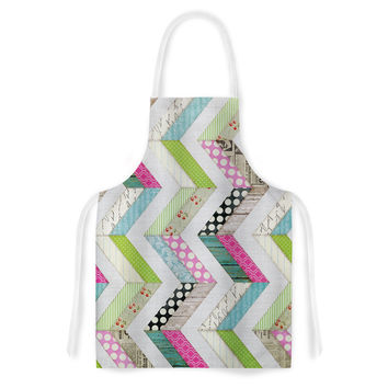 "Heidi Jennings ""Fabric Much?"" Colored Cloth Artistic Apron"