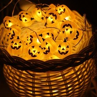 LED Jack-O-Lantern Pumpkin String Lights