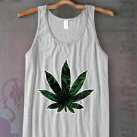 Weed Leaf Unisex Tank Top Funny and Music