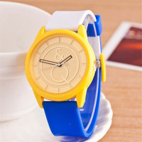 HIGHT QUALITY WOMENS FASHION RUNNING WATCHES CASUAL PATCHWORK SILICONE SPORTS WATCH  384