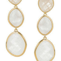 Monica Vinader | Nugget 18-karat gold-plated moonstone earrings | NET-A-PORTER.COM