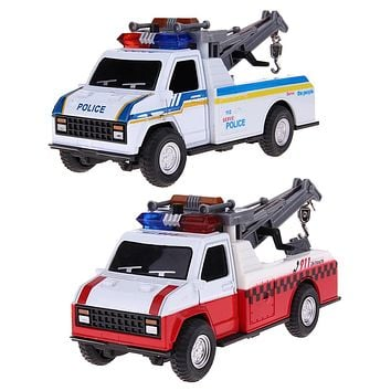 Pull Back Car Toys Children Police Crane Car Toys Firefighting Musical Flashing Car Toy Kids Child Boys Toy Birthday Gift
