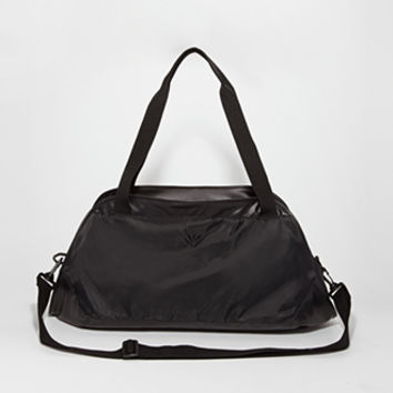 Faux Leather Paneled Gym Bag