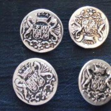4 coat of arms buttons by BitofEarth on Etsy