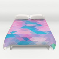 PINK TRIANGLE Duvet Cover by Hands In The Sky