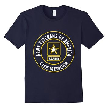 Army Veterans Of America - Life Member Zip up Hoodie Tshirt