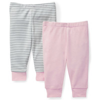SKIP*HOP® Boho Feathers 2-Pack Baby Pants in Pink