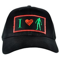 I Love Zombies Hat Halloween Heart Baseball Cap