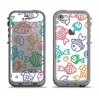 The Vector Color-FIsh Apple iPhone 5c LifeProof Fre Case Skin Set