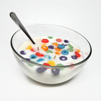 Fruit Loop Scented Cereal Bowl Candle