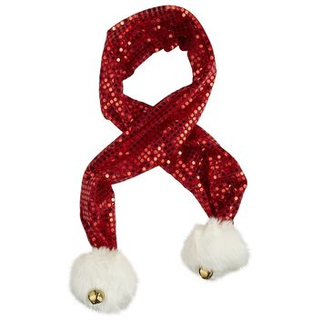Red Sequin Jingle Bell Scarf