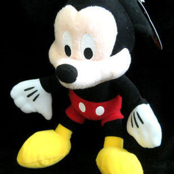 "DISNEY 8"" MICKEY MOUSE PLUSH TOY-LICENSED STUFFED TOY-DISNEY MICKEY PLUSH-NEW!!"