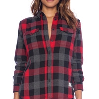 Penfield Chatham Buffalo Plaid Shirt in Red
