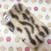 5 Colors Rabbit Fur Case for Iphone 4 / 4S Free Shipping