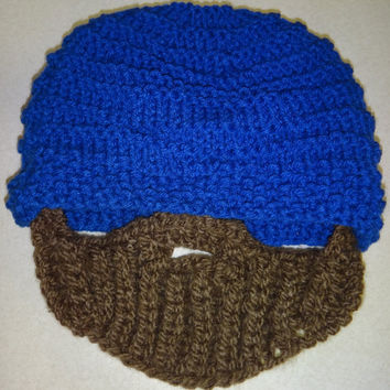 Beard Hat  Adult by ConchoPurl on Etsy