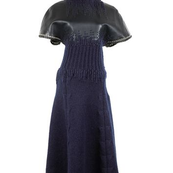 Balenciaga Navy Wool Dress
