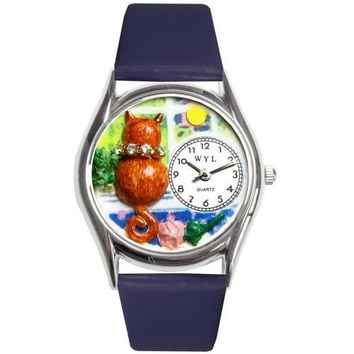 Aristo Cat Watch Small Silver Style