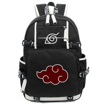 New fashion Cartoon Printing Cosplay Naruto men Backpack Anime Akatsuki Sharingan School Backpacks Laptop women Shoulder Bags