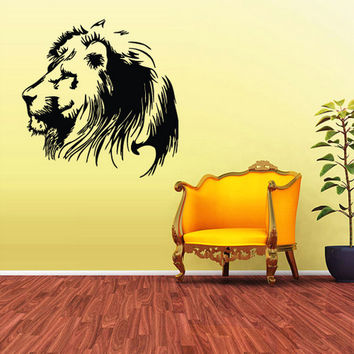 rvz1735 Wall Decal Vinyl Sticker Stickers Lion Tiger Cat Africa Animal Detailed