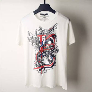 Rockstar Summer Men 3D T-Shirt Balmain T Shirt Men's Shirt Dragon Skull Eagle Print Fitness Sport Balmain Tee Rock T Shirts Robin Tshirt