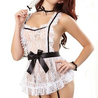 Women Sexy Maid Lingerie French Maid Costume for Halloween