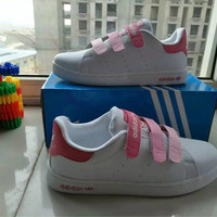 """""""Adidas STAN SMITH"""" Fashion Casual Plate Shoes Sneakers Women Velcro Small White Shoes"""