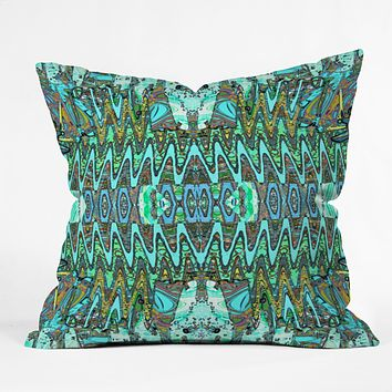 Ingrid Padilla Charisma Blue Throw Pillow