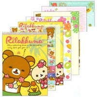 San-X Aloha Rilakkuma Paradise in Hawaii Memo Pad with Stickers: Hula