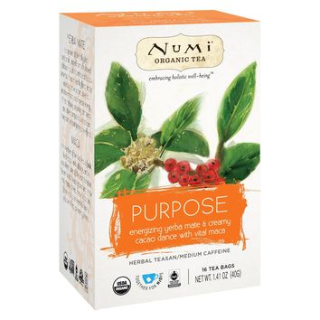 Numi Tea Organic Herb Tea -purpose - Case Of 6 - 16 Count
