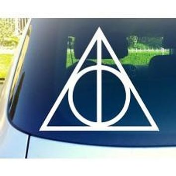 Deathly Hallows Harry Potter Automobile Window Decal Sticker
