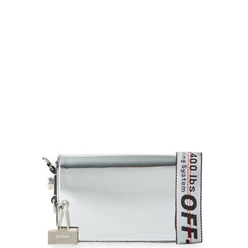 Off-White Mirror Mini Flap Crossbody Bag