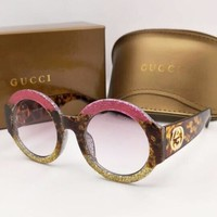 GUCCI Popular Ladies Men Summer Colorful Frame Sun Shades Eyeglasses Glasses Sunglasses I-8090-YJ