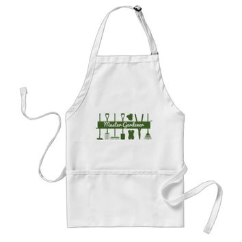 Master Gardener Simple Modern Forest Green Adult Apron