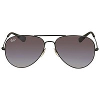 NEW GENUINE Rayban Sunglasses RB3558 002/8G 58 Black Grey Gradient aviator 3558