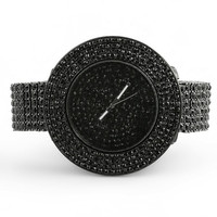 Black Totally Iced Out Custom Watch