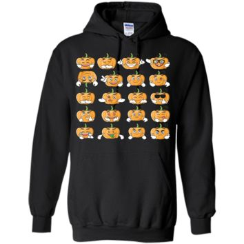 Emoji Pumpkin Icons Emoticon for Halloween 2017 T-shirt