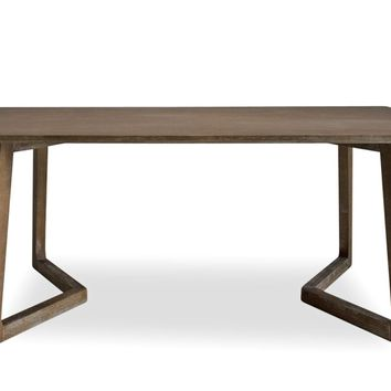 Vince Mid-Century Modern Dining Table Burnt Elm