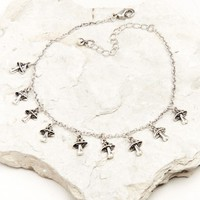 Silver Mushrooms Anklet