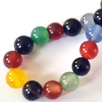 Agate Multicolored Gemstones 8mm