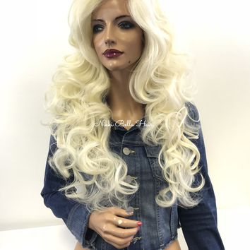 Blond curly lace front wig- Havana 1 18 48