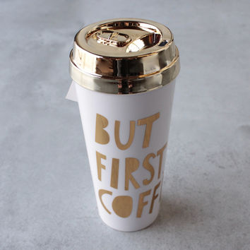 ban.do - deluxe hot stuff thermal - but first, coffee - gold