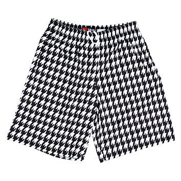 Houndstooth Sublimated Lacrosse Black / White Shorts
