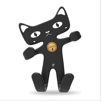 Cute Cat Car Phone Holder Flexible Soft Silicone Car Holder Air Vent Mount Phone Holder Rubber GPS Stand Bracket Display