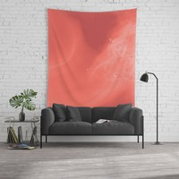 Coral gradient Wall Tapestry by duckyb
