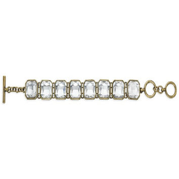 Chloe + Isabel Retro Glam Square-Cut Crystal Bracelet
